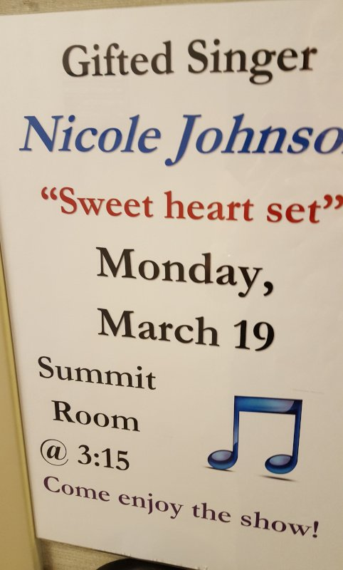 Gifted Singer Nicole Johnson Sweetheart Set Monday March 19 Summit Room Come Enjoy the Show